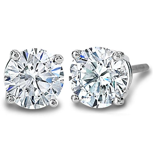 Fine Cut Diamond Stud Earrings