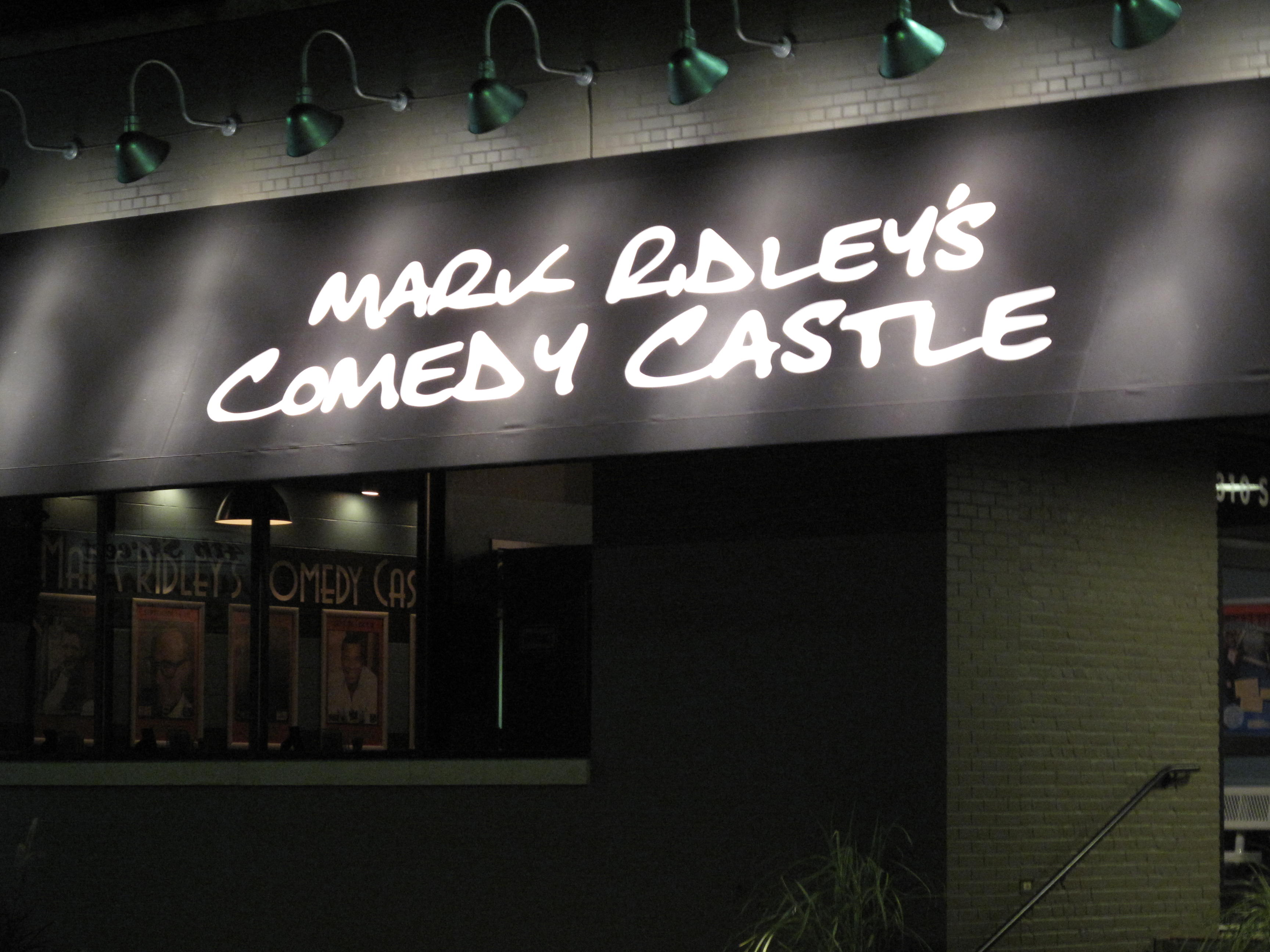 Exterior of Mark Ridley's Comedy Castle