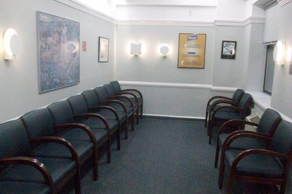 Pleasant and clean waiting area for our patients.