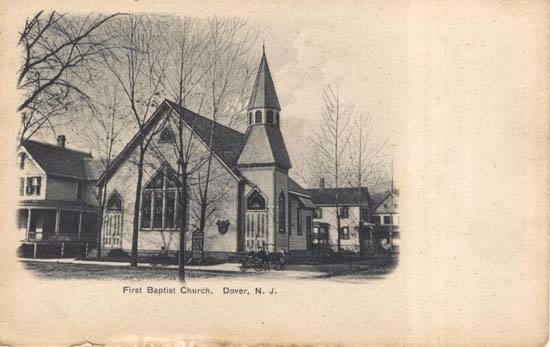 Postcard of Original Church building