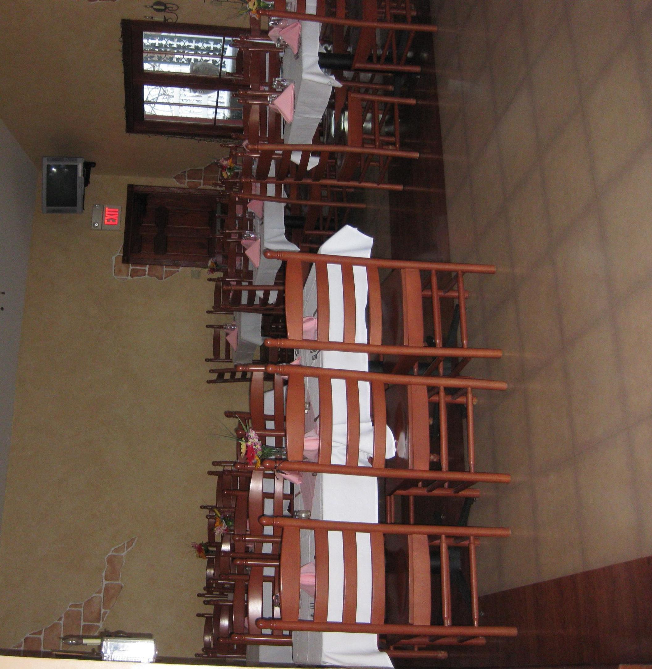 Our Banquet Hall for all your special occasions