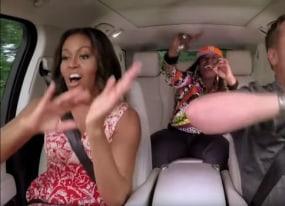 michelle obama and missy elliott get their freak on for carpool karaoke