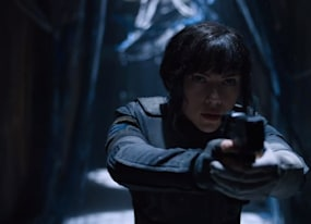 see scarlett johansson in action in first ghost in the shell teasers