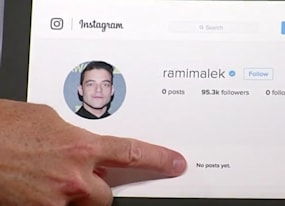 the late show hacks rami malek s instagram to finally post first photo