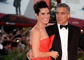 gravity premiere george clooney sandra bullock float down the venice film festival red carpet photos