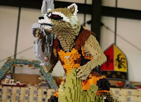 watch lego masters build rocket and groot block by glorious block video