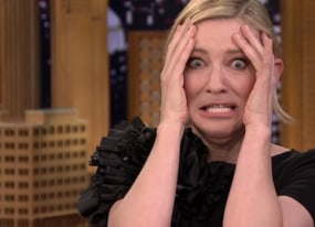 best of late night tv cate blanchett s lip flip and james corden s late late show binge