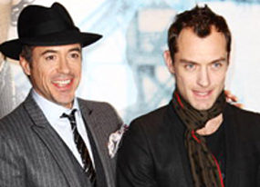 video footage from the london premiere of sherlock holmes