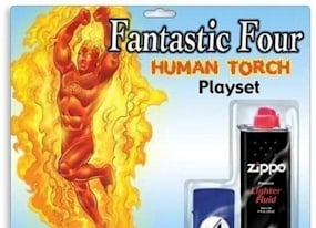 hilariously bad fantastic four human torch costume