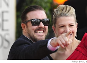 why the golden globes is hypocritical to condemn ricky gervais