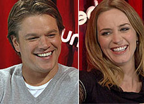 the adjustment bureau stars matt damon and emily blunt on fate free will and monkeys