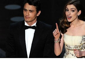 review james franco and anne hathaway as oscar hosts bring back david letterman