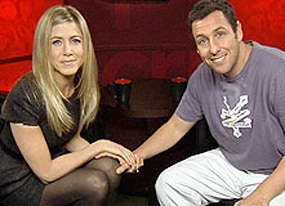just go with it stars jennifer aniston and adam sandler on vomiting bikinis and telling lies