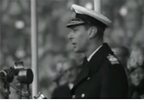 the real king s speech watch rare footage of king george vi speaking to a crowd
