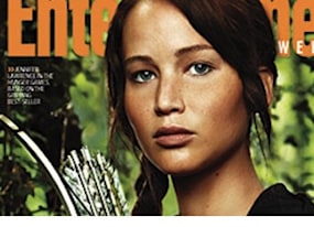 first look jennifer lawrence as katniss everdeen in the hunger games