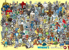 test your robot trivia with the pop culture puzzle of where s wall e