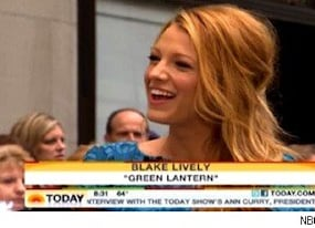 green lantern star blake lively gets geeky with matt lauer on today video