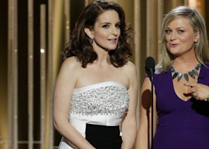 tina and amy s 2015 golden globes monologue bill cosby clooney the interview mocked video