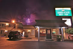 America's Best Inn - Anaheim, California - View of Disneyland Fireworks