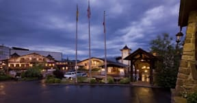 Golden Arrow Lakeside Resort - Lake Placid, New York - Beautifully lit up Golden Arrow