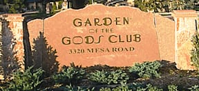 Garden of the Gods Club - Colorado Springs, Colorado - Garden of the Gods Club sign