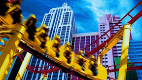Roller Coaster at New York-New York - Las Vegas, Nevada