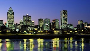 Montreal Skyline and Lachine Canal