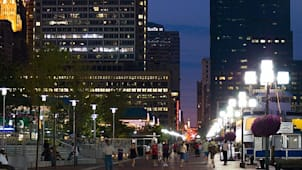 Baltimore Inner Harbour promenade at night. Image shot 2007. Exact date unknown.