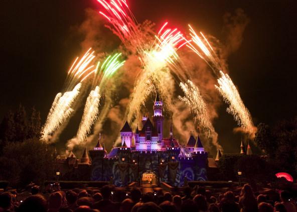 Magical firework show