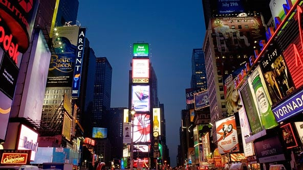 Times Square at Night Pictures, New York, NY - AOL Travel