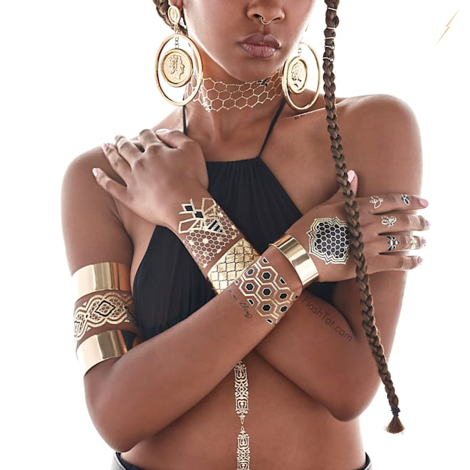 Beyonce's Flash Tattoos