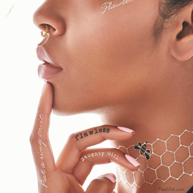 Beyonce's Flash Tattoos
