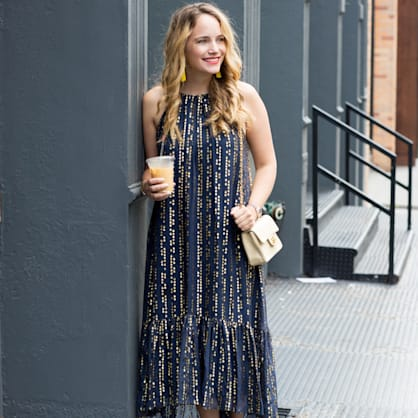 Street style tip of the day: Blue and gold stars