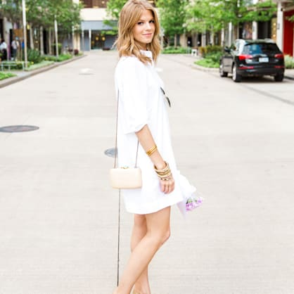 Street style tip of the day: White shirt dress