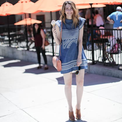 Street style tip of the day: Denim sundress