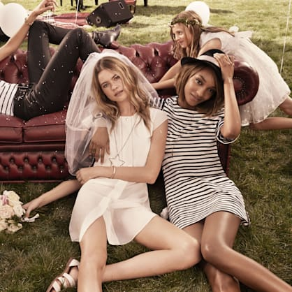 Tommy Hilfiger's Spring campaign may be the closest we'll get to Behati Prinsloo's wedding photos