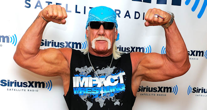 Hulk Hogan Flexes in New York on October 13, 2011