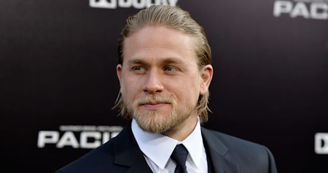 Charlie Hunnam at the Hollywood Premiere of 'Pacific Rim' on July 9, 2013
