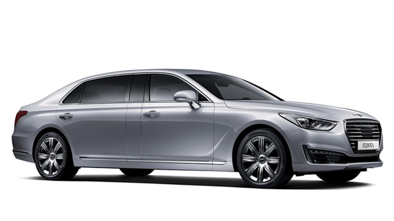 Merveilleux Back Home In Korea, Hyundai Is Offering The Vehicle We Know As The Genesis  G90 As The EQ900L, Boasting An Extra Foot Of Space In The Back To Stretch  Out.