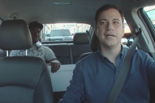 Jimmy Kimmel becomes an Uber driver