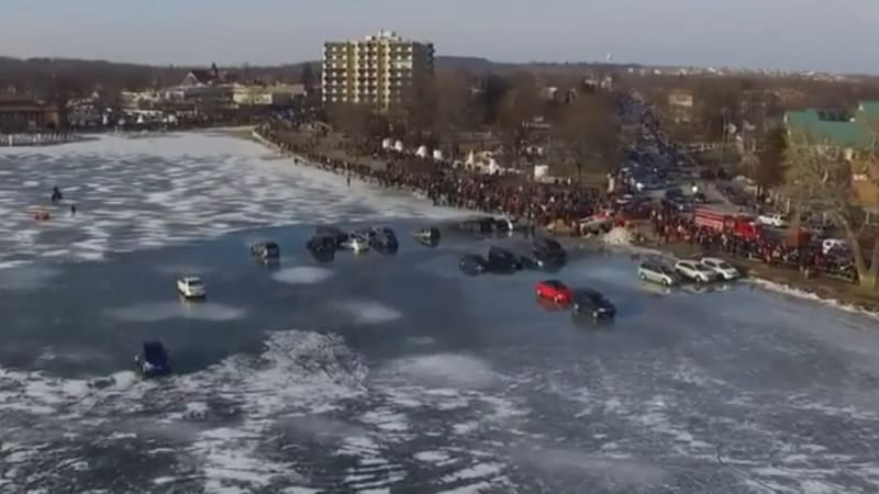 Why you might not want to park on a frozen lake