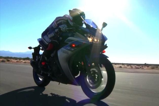 Colin Edwards advertises the Yamaha R3
