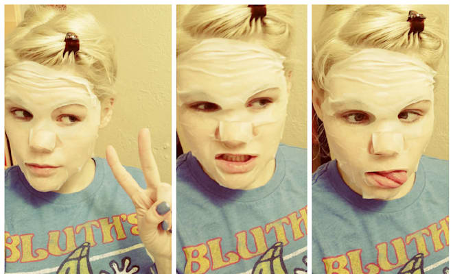 sheet mask selfies funny