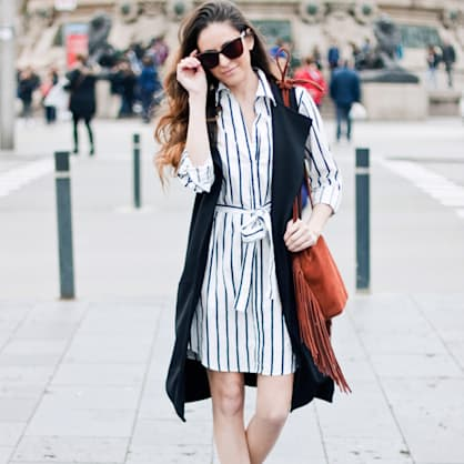 Street style tip of the day: Stripes in Spain