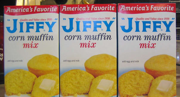 jiffy corn muffin mix boxes chelsea milling company baking food