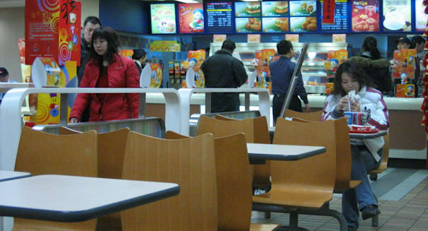KFC china weak sales