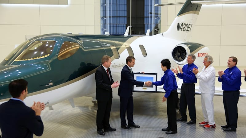 One lucky customer got the first HondaJet for Christmas