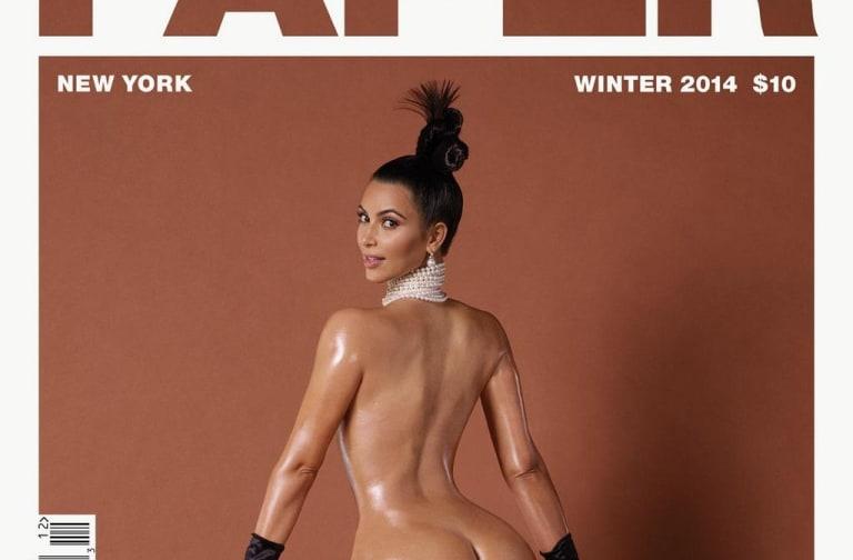 Kim Kardashian showing her