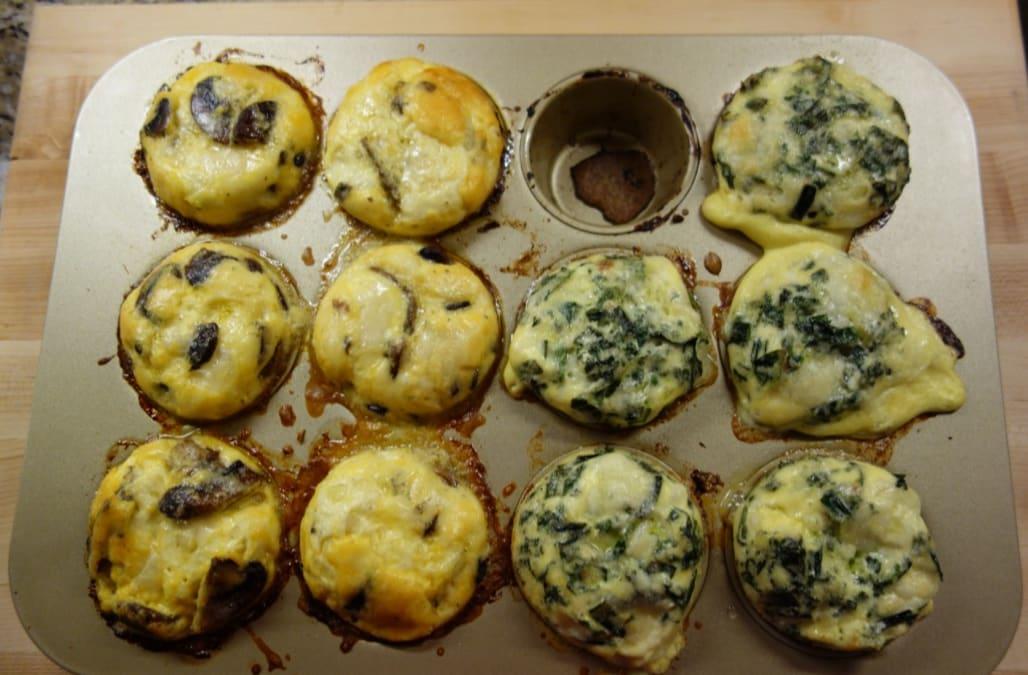 Sauteed Kale and Scallion Mini Frittatas - AOL.com
