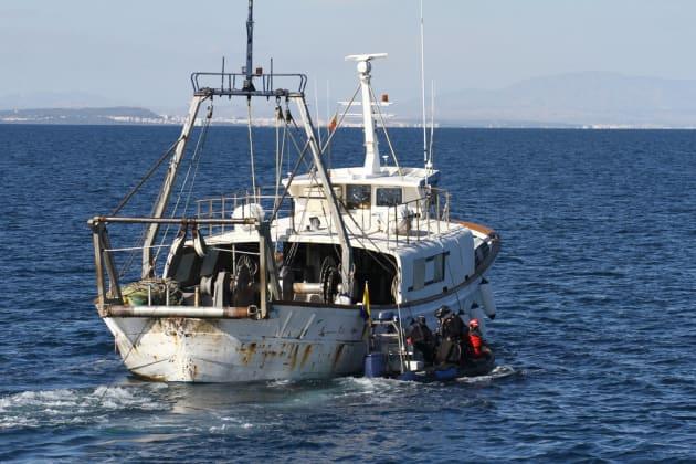 illegal fishing boat